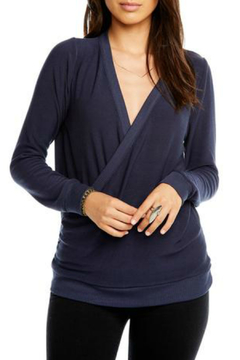 Chaser Cozy Knit Vneck Surplice Pullover - Alternate List Image