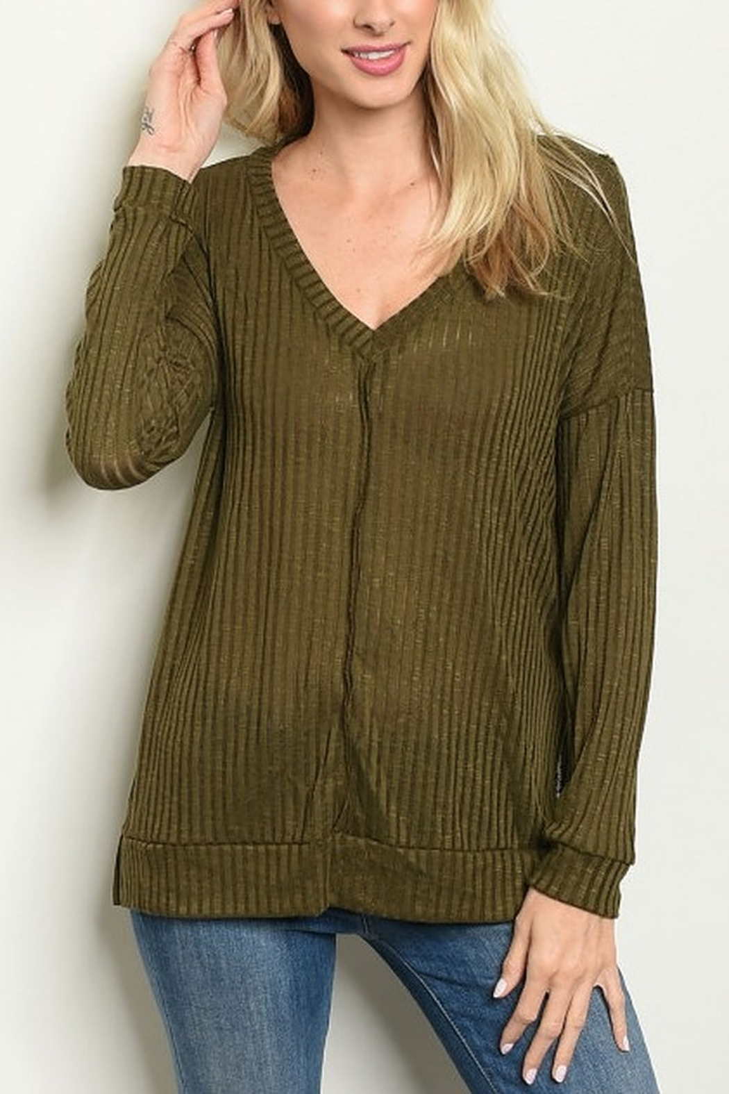Lyn -Maree's Cozy Light Weight Long Sleeve - Main Image