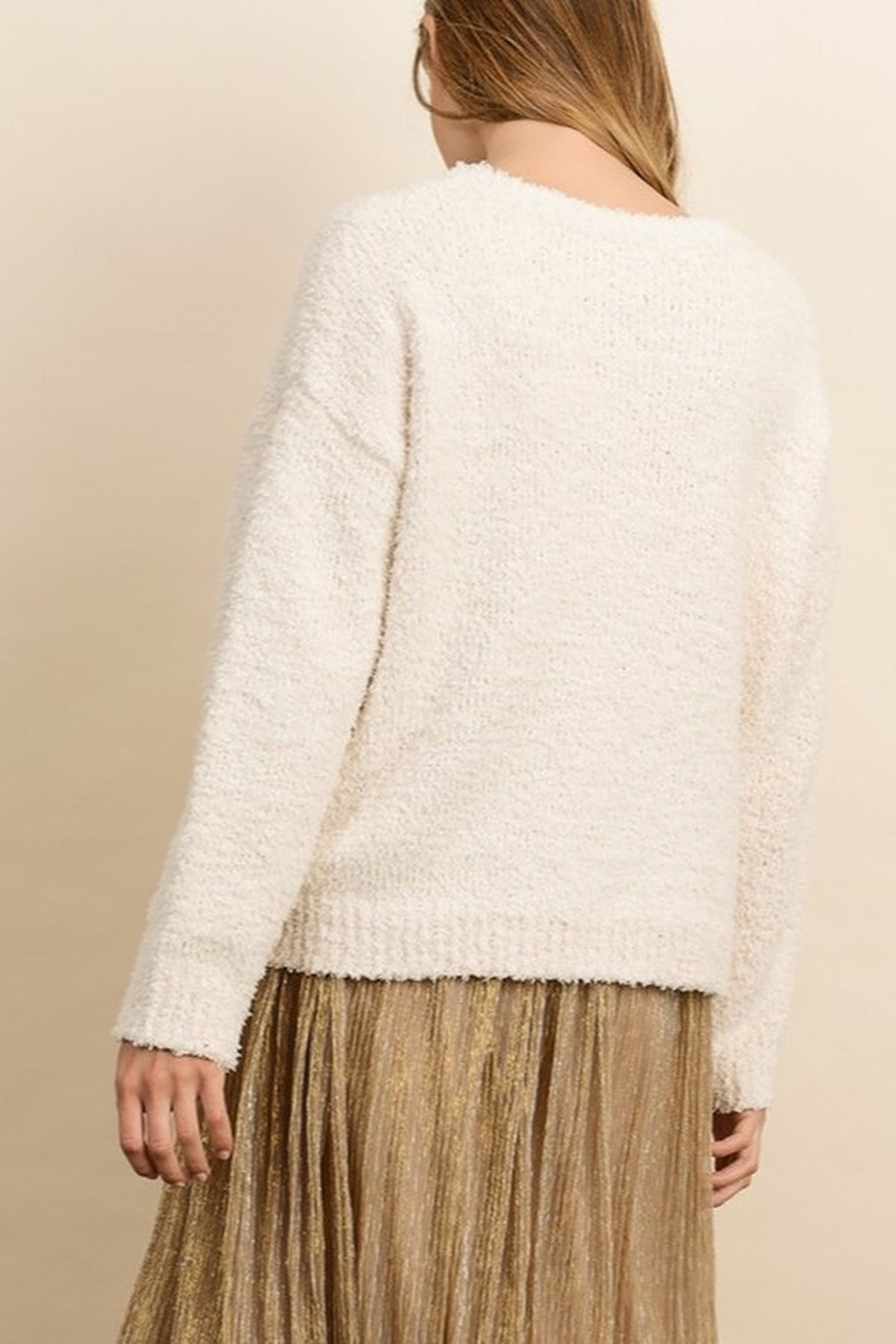 Dress Forum  Cozy Pullover Sweater - Front Full Image