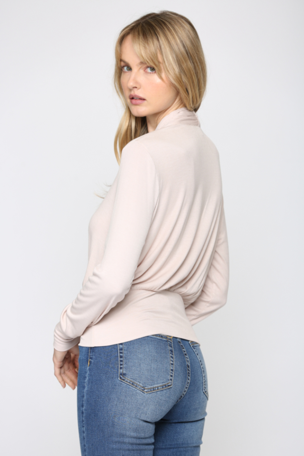 Fate Cozy Ribbed Surplice Top - Side Cropped Image