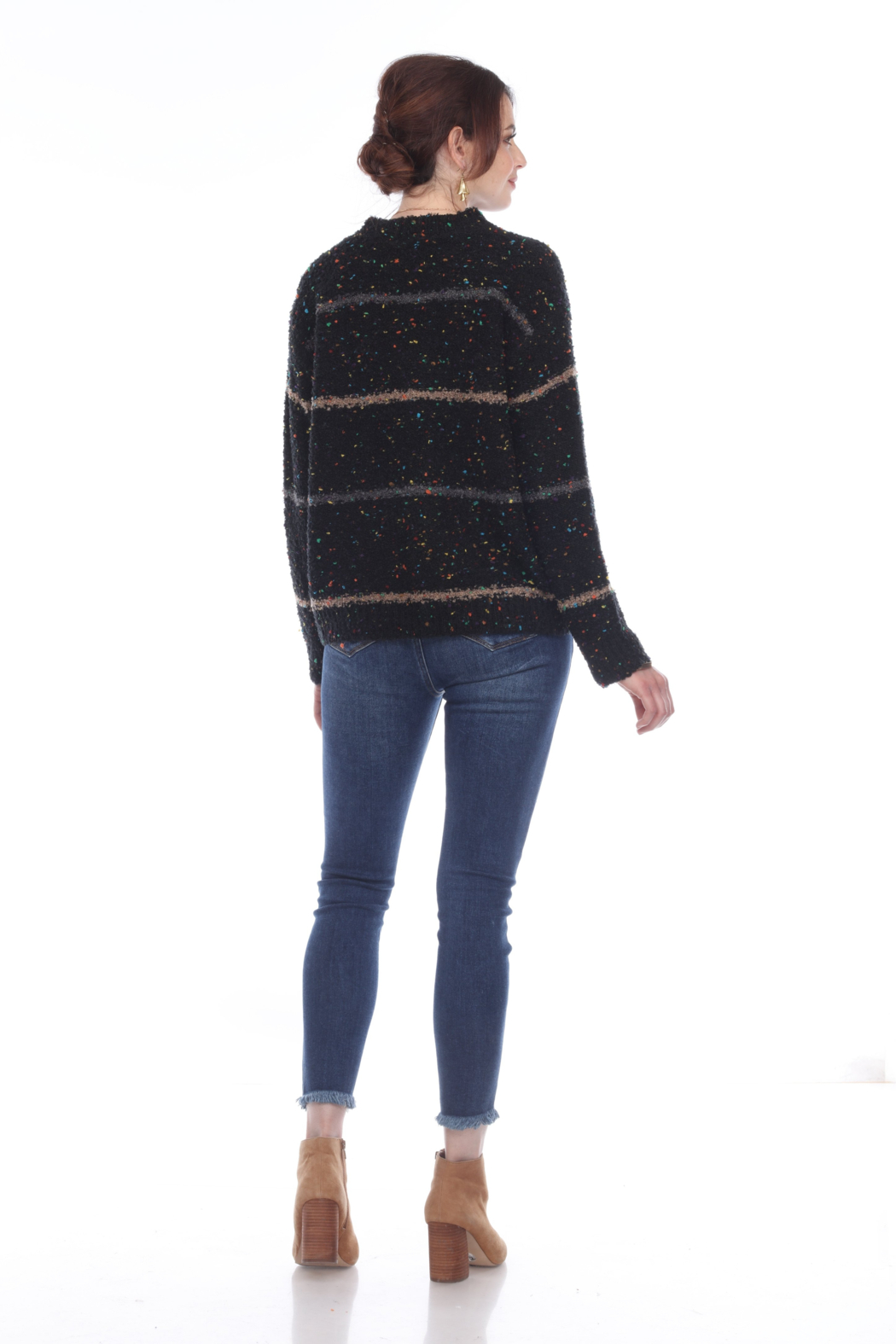 sisters Cozy Stripe Pullover - Front Full Image