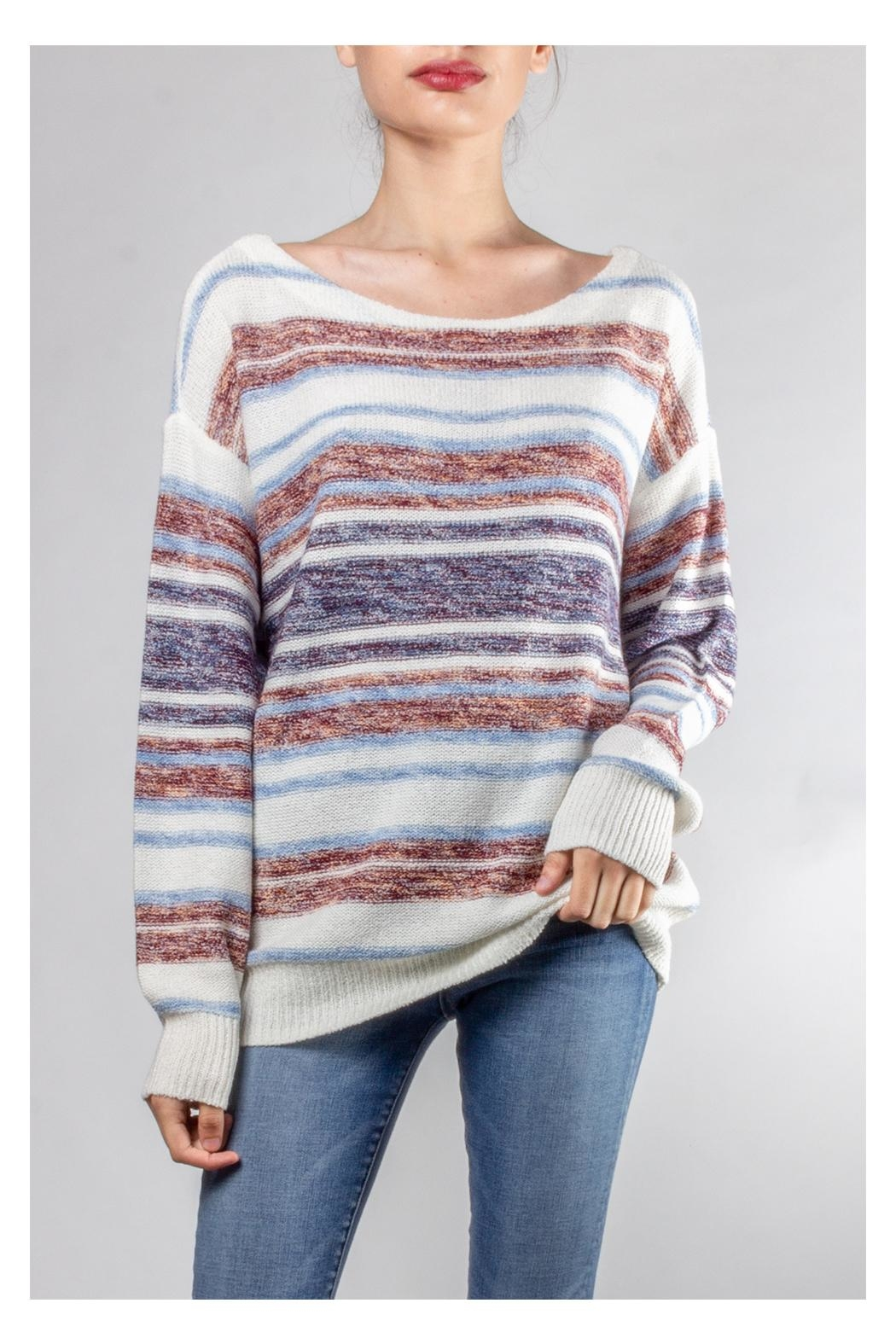 Hem & Thread Cozy Striped Sweater - Main Image