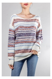 Hem & Thread Cozy Striped Sweater - Front cropped