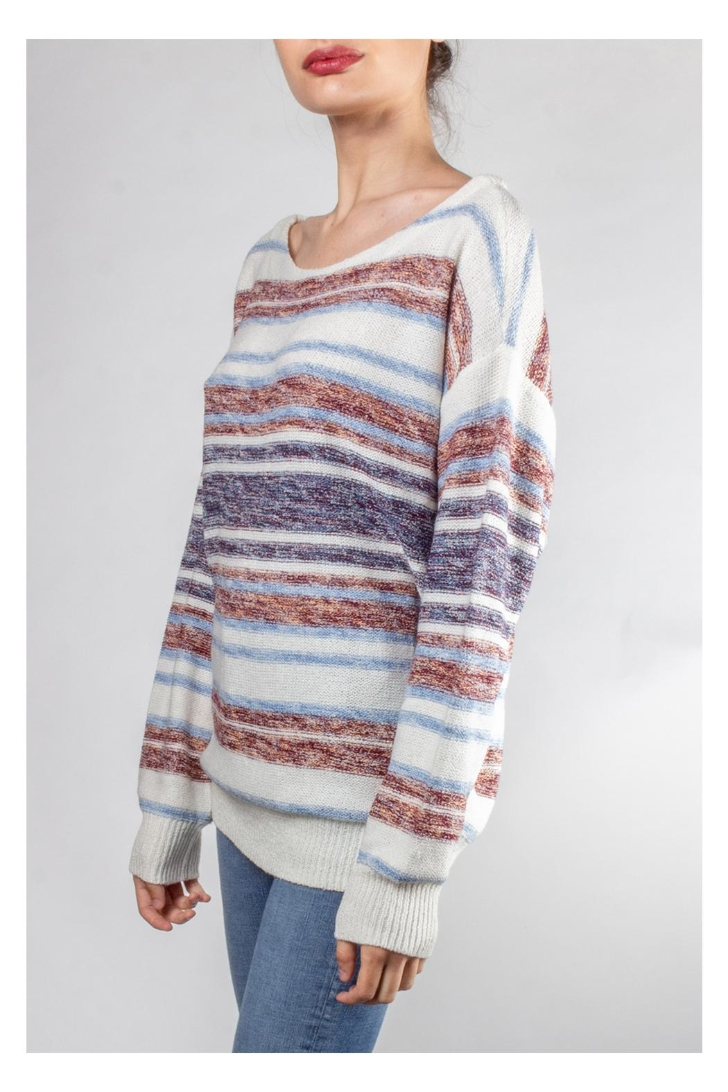 Hem & Thread Cozy Striped Sweater - Front Full Image