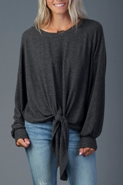 Blu Pepper Cozy Tie-Front Pullover - Product Mini Image