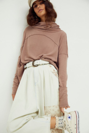 Free People  Cozy Time Funnel Top - Front cropped