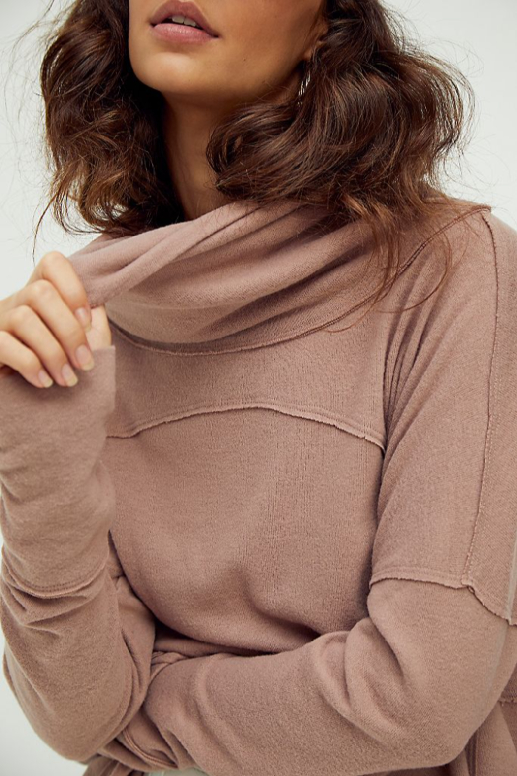 Free People  Cozy Time Funnel Top - Side Cropped Image