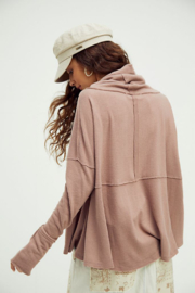 Free People  Cozy Time Funnel Top - Front full body