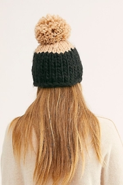Free People Cozy Up Color Block Pom Beanie - Front full body
