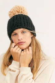 Free People Cozy Up Color Block Pom Beanie - Side cropped