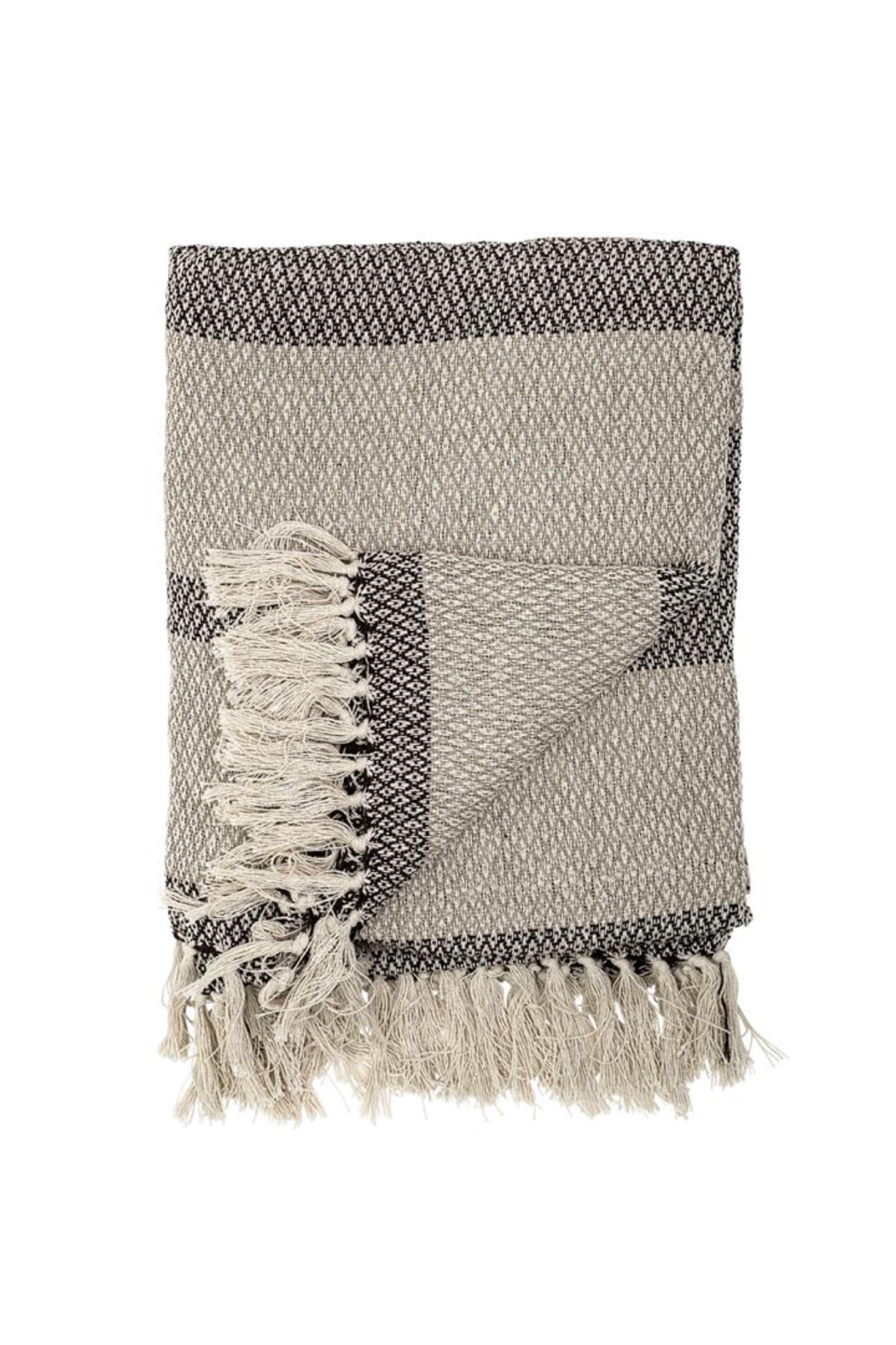 Bloomingville Cozy Up Throw In Shades Of Grey - Main Image