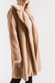 rag poets Cozy Wrap Coat - Back cropped