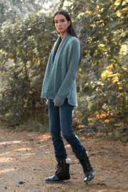 Wooden Ships Cozy Wrap Sweater - Front full body