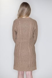 Cozy Casual Cable Knit Dress - Back cropped