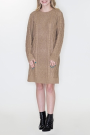 Cozy Casual Cable Knit Dress - Front cropped