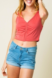 Cozy Casual Crop Tank Brick - Product Mini Image