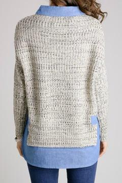 Shoptiques Product: Denim Lined Sweater