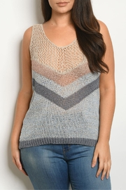 Cozy Casual Fishnet Knit Top - Product Mini Image