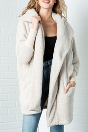 Cozy Casual Fluffy Faux Fur Jacket - Front full body