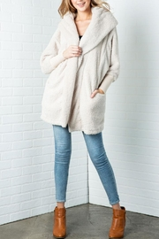 Cozy Casual Fluffy Faux Fur Jacket - Front cropped