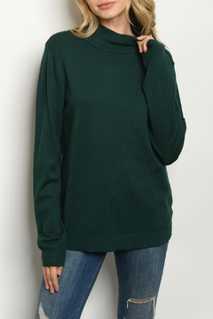Cozy Casual Green Mock Sweater - Product List Image