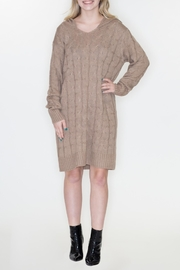 Cozy Casual Hoodie Sweater Dress - Product Mini Image