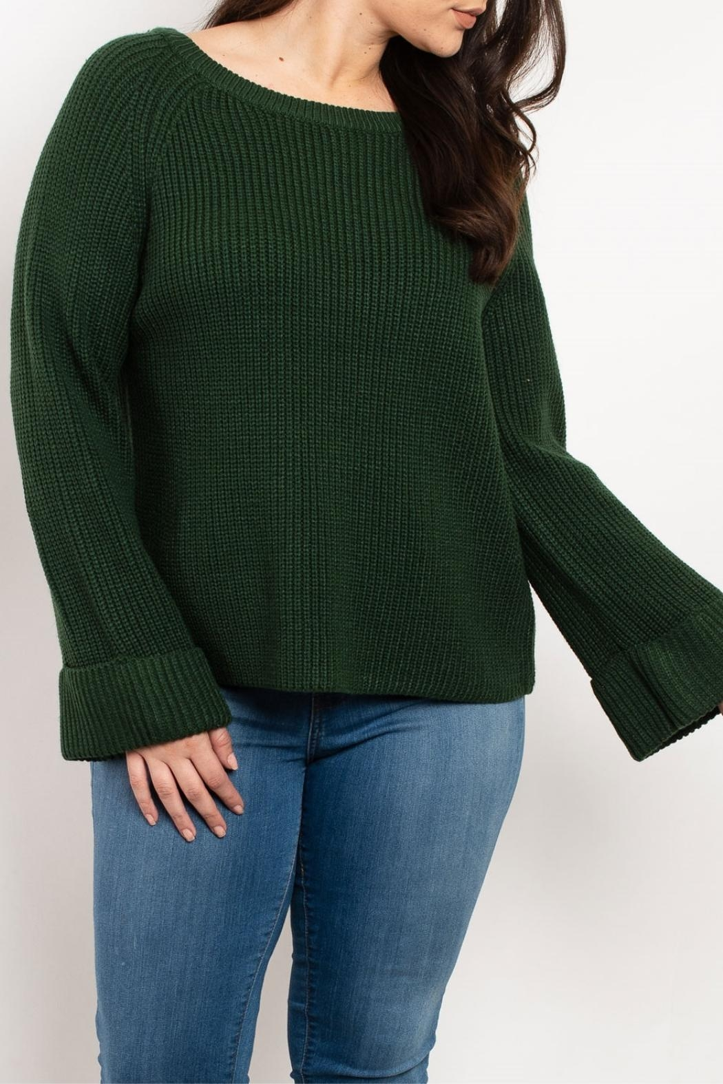 Cozy Casual Hunter Green Sweater - Main Image