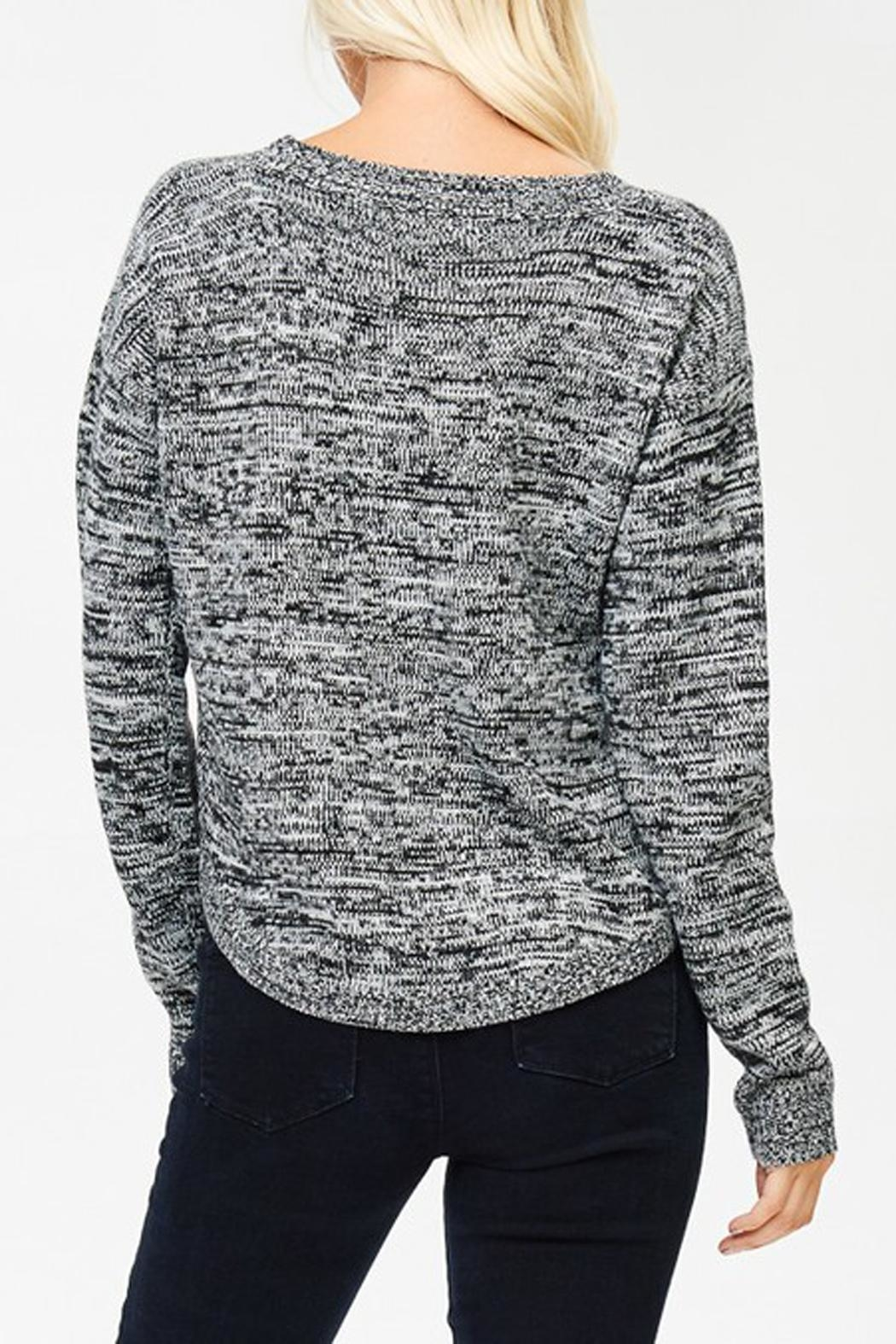 Cozy Casual Kat Sweater - Back Cropped Image