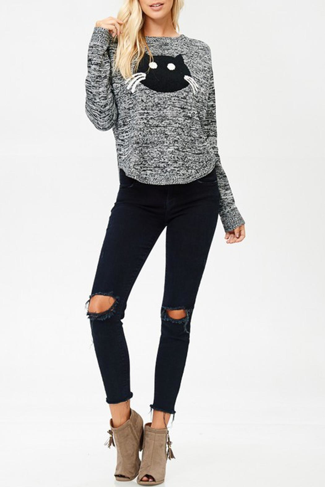 Cozy Casual Kat Sweater - Side Cropped Image