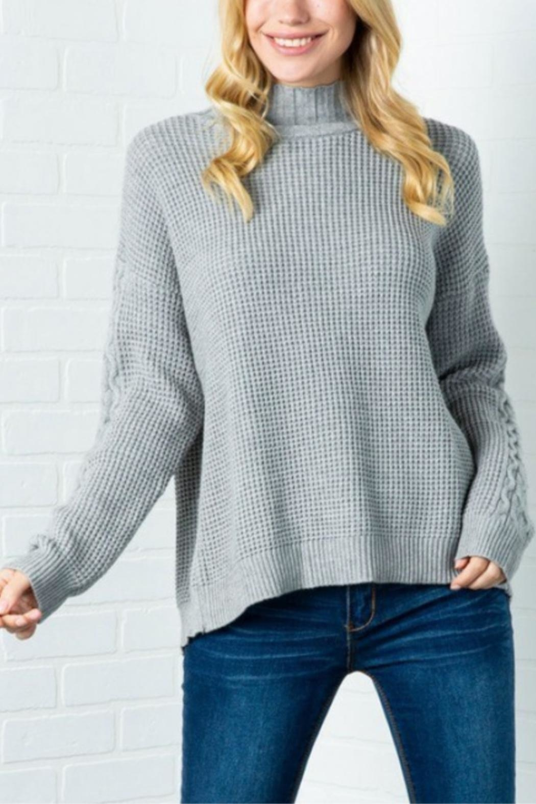 Cozy Casual Lickety Split Sweater - Back Cropped Image