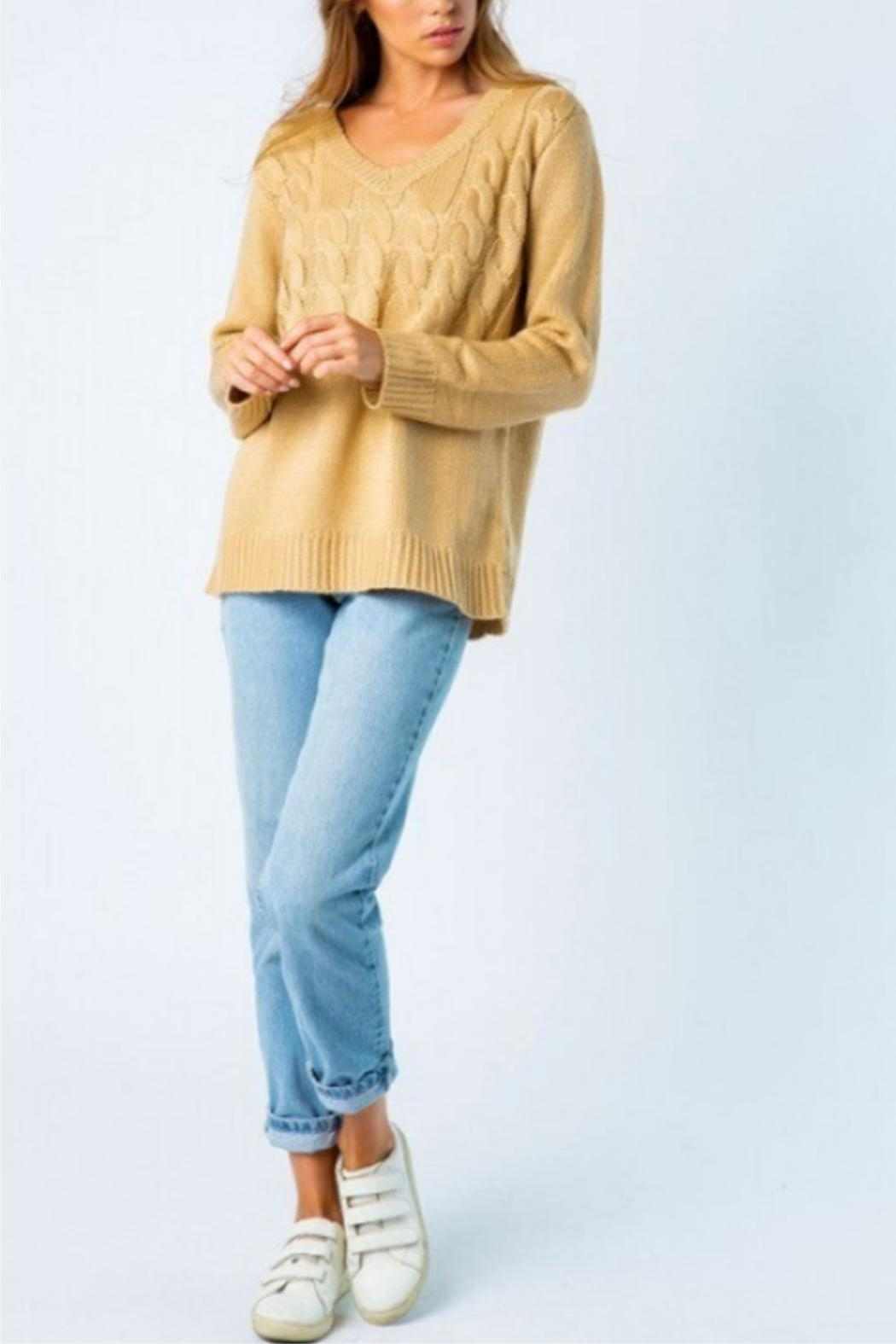 Cozy Casual Mixed Knot Sweater - Main Image