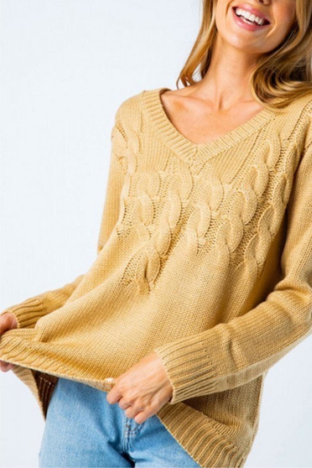 Cozy Casual Mixed Knot Sweater - Side Cropped Image