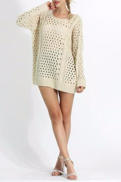 Cozy Casual Open Weave Sweater - Alternate List Image