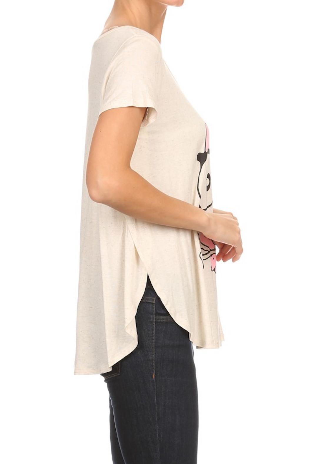 Cozy Casual Owl Print Top - Side Cropped Image