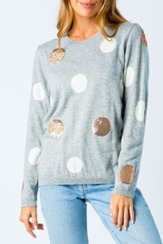 Cozy Casual Sequin Polka Dot Sweater - Product Mini Image