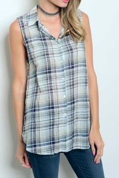 Shoptiques Product: Sleeveless Plaid Top