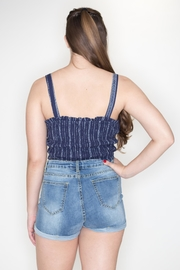 Cozy Casual Smocked Crop Top - Side cropped