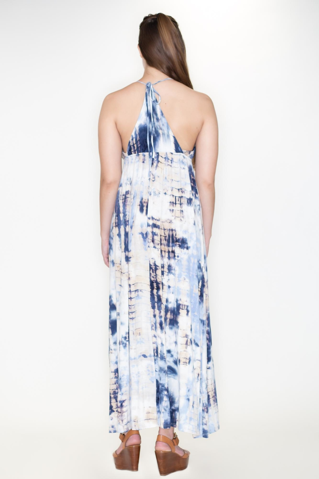 Cozy Casual Tie Dye Maxi - Front Full Image
