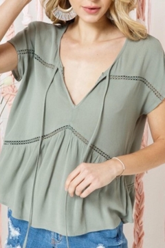 Cozy Co. Sage Short Sleeve Top - Product List Image