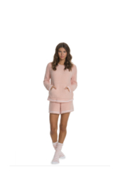 Barefoot Dreams COZYCHIC 3-PIECE LOUNGE SET - PEACH - Front full body