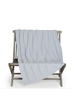 Barefoot Dreams COZYCHIC HEATHERED CABLE BLANKET - Alternate List Image