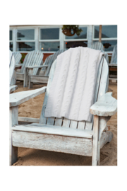 Barefoot Dreams COZYCHIC HEATHERED CABLE BLANKET - Product Mini Image