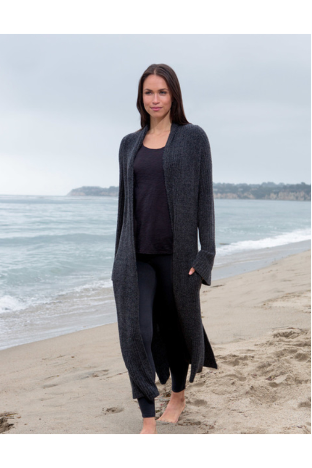 Barefoot Dreams COZYCHIC LITE CROSS CREEK CARDI - Front Cropped Image