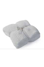The Birds Nest COZYCHIC RIBBED THROW-WHITE - Front cropped