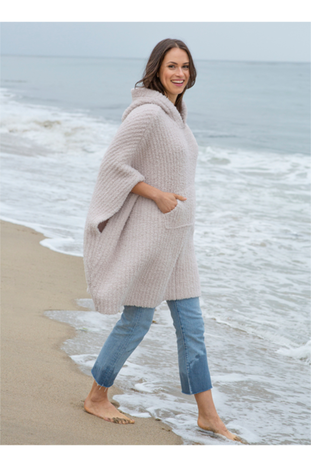 The Birds Nest COZYCHIC THE RIBBED COZY SWEATER -ALMOND - Main Image