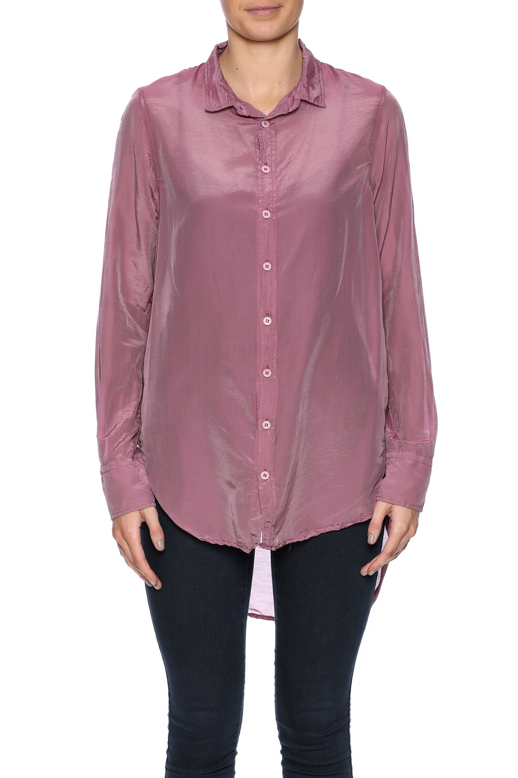 CP Shades Carine Cotton Silk Blouse - Side Cropped Image