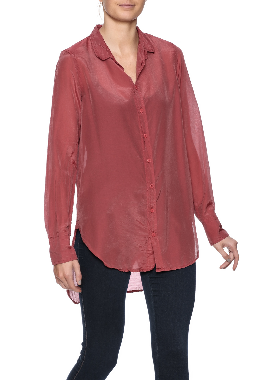 CP Shades Carine Cotton Silk Blouse - Front Cropped Image