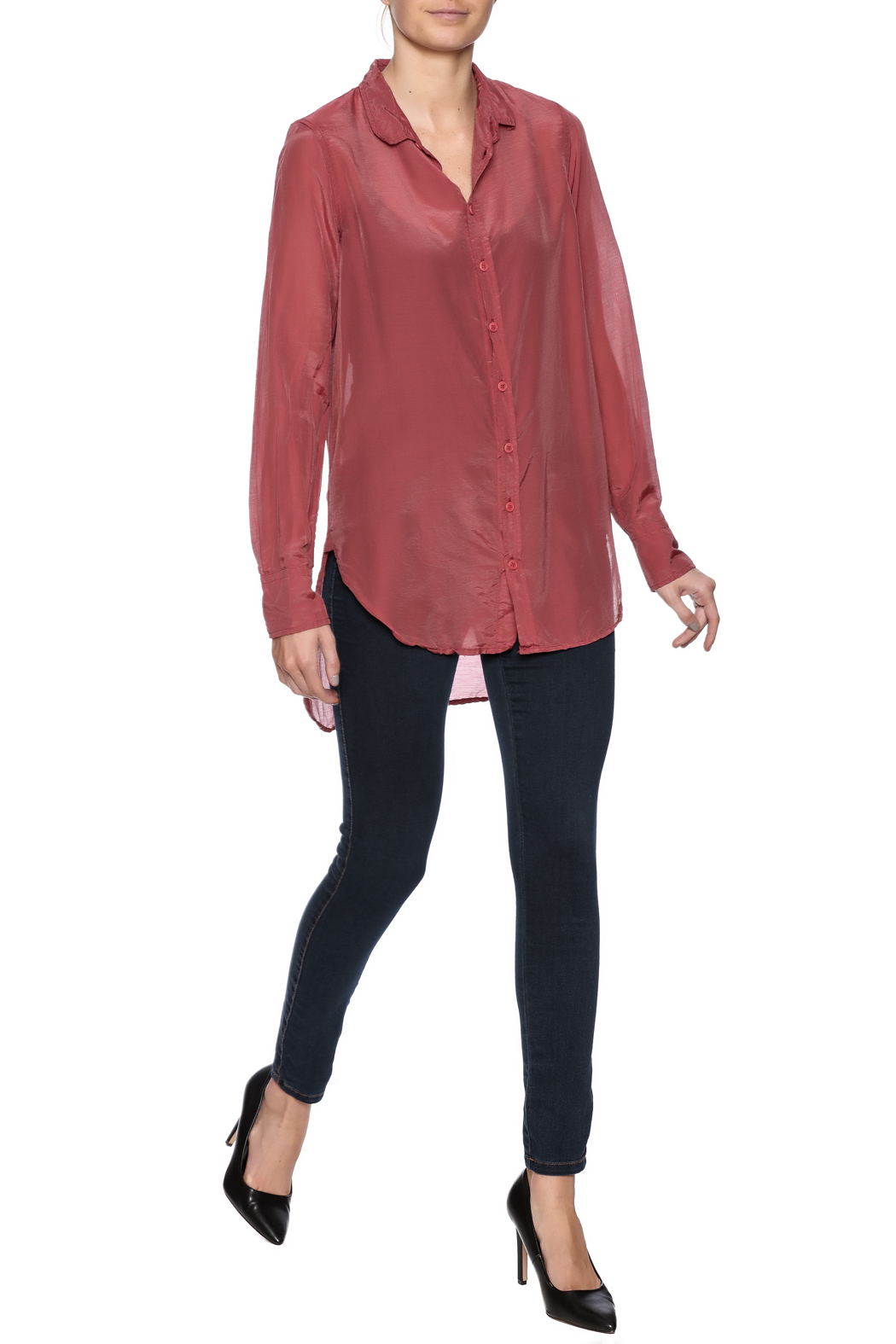 CP Shades Carine Cotton Silk Blouse - Front Full Image
