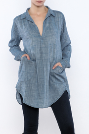 CP Shades Chambray Linen Top - Product Mini Image