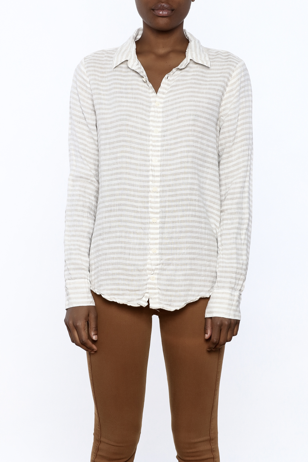 CP Shades Linen Beach top - Side Cropped Image